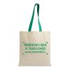 shopper bag in cotomne con manici colorati e il tuo logo stampato al centro